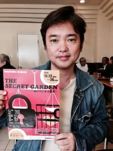 「廃止運動とリンクしていければ」と語る作・演出の田中広喜さん。(写真/片岡伸行)