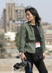 2012年にシリアで殺害された山本美香さん。(写真/佐藤和孝)