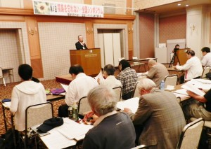 被災地の議員が切り捨て政策を報告した全国シンポ=7月11日、福島市。(撮影/藍原寛子)
