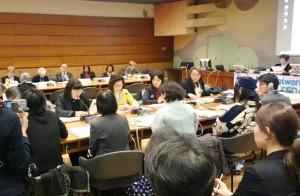 日本女性差別撤廃条約NGOネットワーク主催の集まり。スイス・ジュネーブ。(提供/坂本洋子)