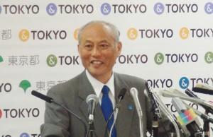 5月13日、東京都庁(新宿区)で記者会見する舛添要一都知事。(撮影/及川健二)