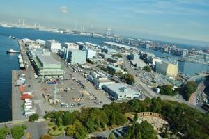 IRの有力候補地の一つ、横浜港の山下埠頭(神奈川県)。(撮影/横田一)