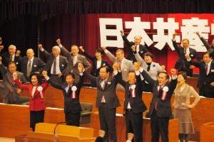野党の党首級が共産党大会に招かれるのは結党95年の歴史のなかで初めてだ。(撮影/野中大樹)
