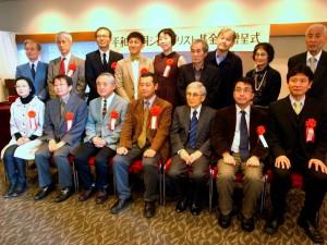 第22回平和・協同ジャーナリスト基金賞の受賞者。(写真/斉藤円華)